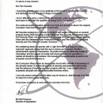 Letter of Commendation from Aegis Consortium - Director of Operations