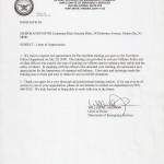 Commendation for Training Military Police - Fort Meyer, VA 7/20/2009