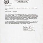 Commendation for Training Military Police - Fort Meyer, VA 7/20/2009