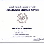 US Marshal recognition for Weapon Disarm Seminar