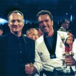 Hanshi Pascetta & Arnold Schwarzenagger - Personal Award .